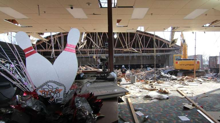 The inside of the Smithtown Lanes, a bowling