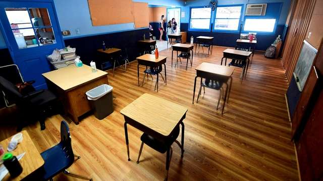 A day school's classroom in Monterey Park, Calif.,