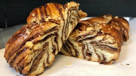 Chocolate babka at Noir Bakery & Cafe in