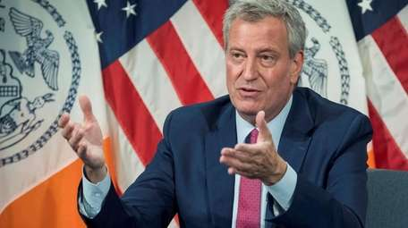 New York City Mayor Bill de Blasio announced