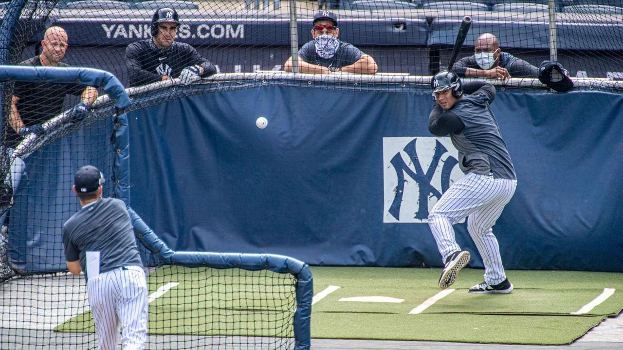 Yankees outfielder Brett Gardner and shortstop Gleyber on