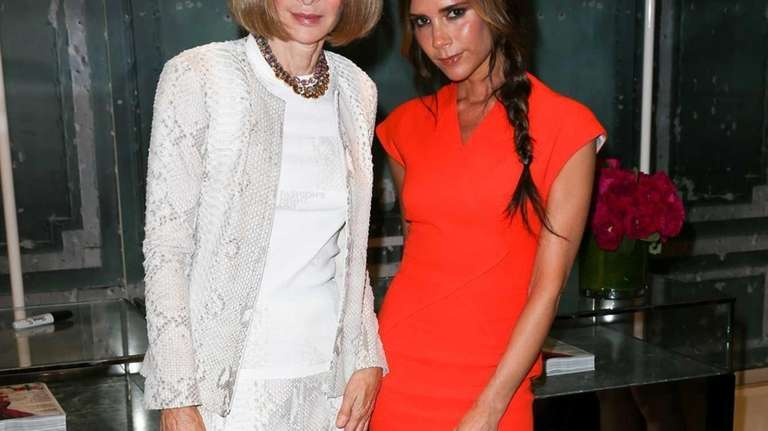 Vogue editor Anna Wintour, left, who helped