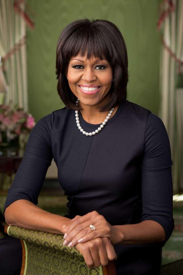 First lady Michelle Obama's official portrait was taken