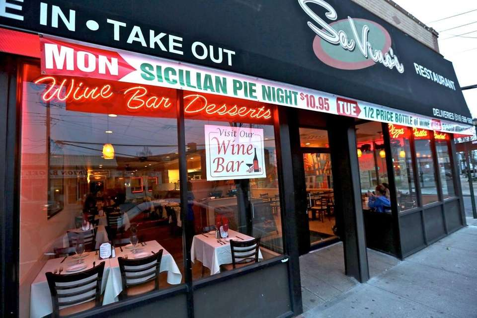 SaVino's Pizzeria Restaurant and Wine Bar in Lynbrook.