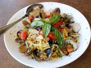 Linguine with white clam sauce at SaVino's Pizzeria