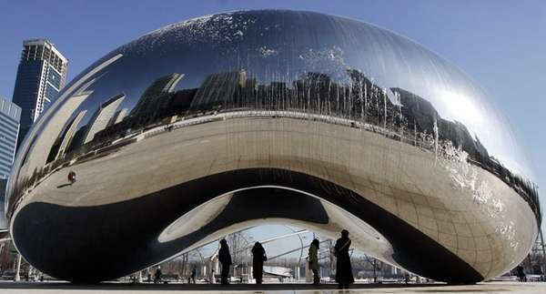 """Cloud Gate"" -- aka ""The Bean"" -- by"