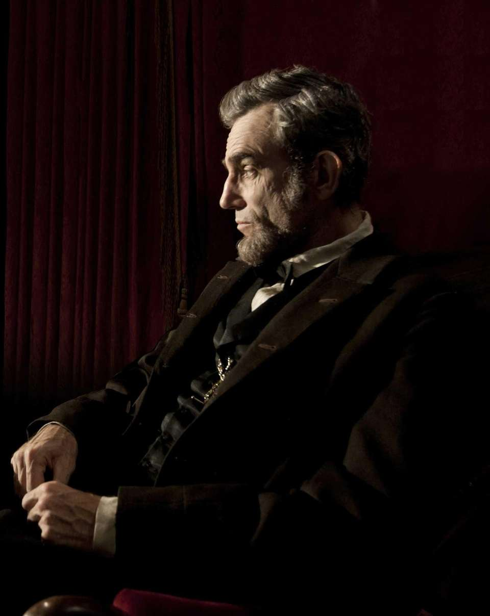 Daniel Day-Lewis, portraying Abraham Lincoln in the 2012
