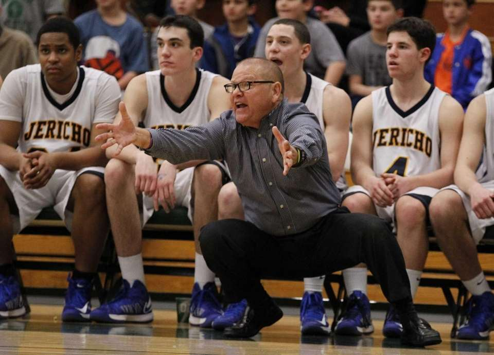 Jericho coach Wally Bachman reacts along the sidelines