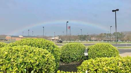 A rainbow over William Floyd High School in