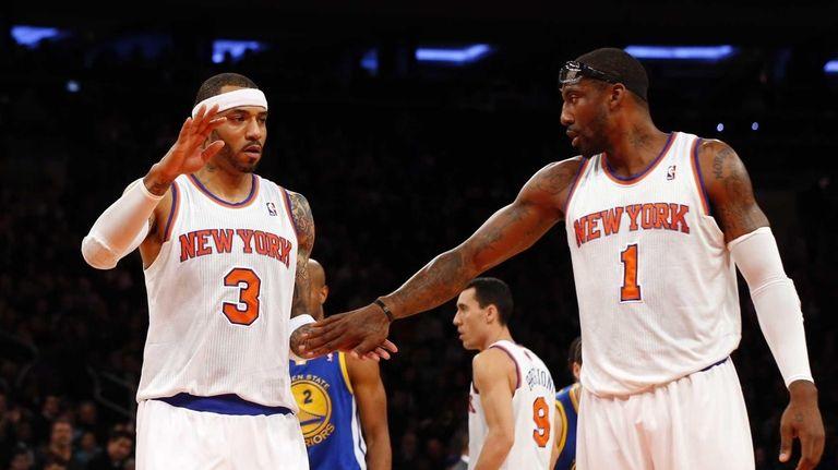 Kenyon Martin of the Knicks enter the game