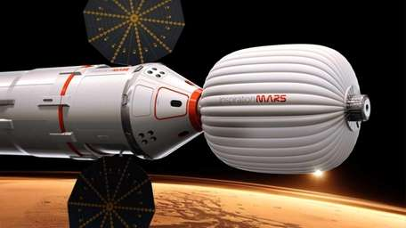 An artist's conception of a spacecraft envisioned by