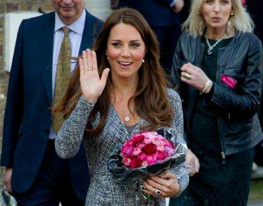 The Duchess of Cambridge, Kate Middleton, visiting Hope