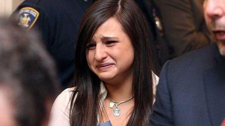 Christine Figoski, daughter of NYPD Officer Peter Figoski,