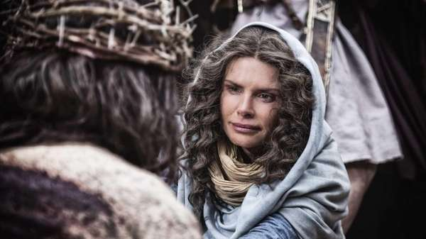 Mother Mary, played by Roma Downey, in History
