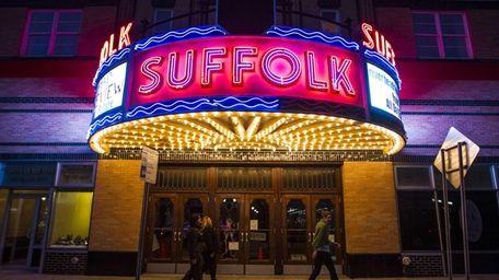 The Suffolk Theater on Main Street in Riverhead