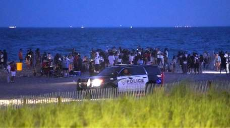 Police respond to reports of a large gathering