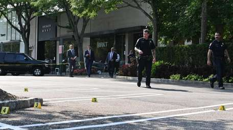 Nassau County police investigate a shooting Saturday afternoon