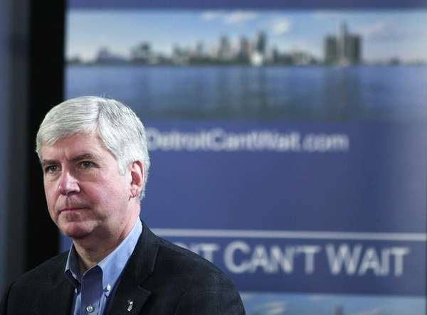 Michigan Gov. Rick Snyder announces he will appoint