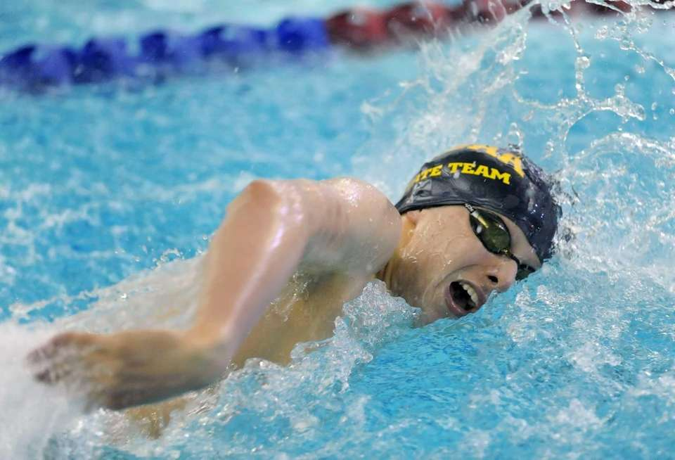 St. Anthony's Michael Capodanno swims in the preliminaries