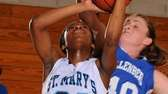 St. Mary's Jasmine Bryant, right, tries to draw