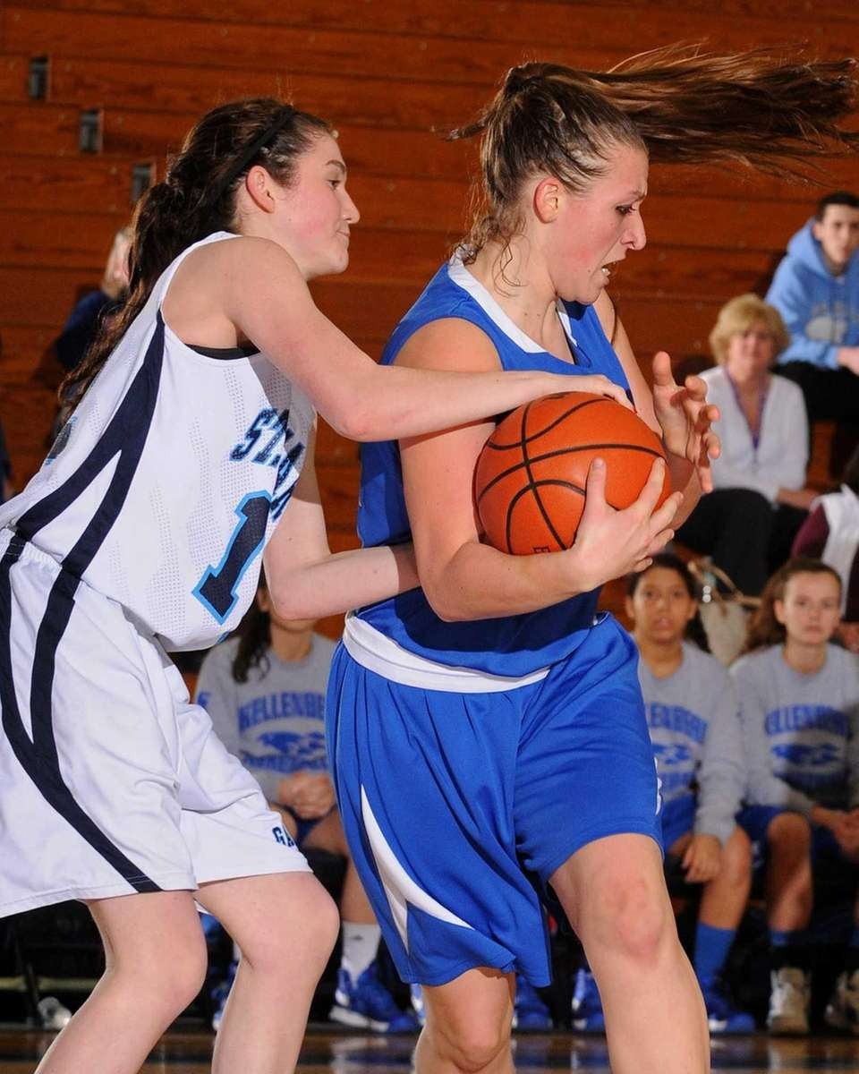 Kellenberg's Amanda Crimarco, right, and St. Mary's McKayla