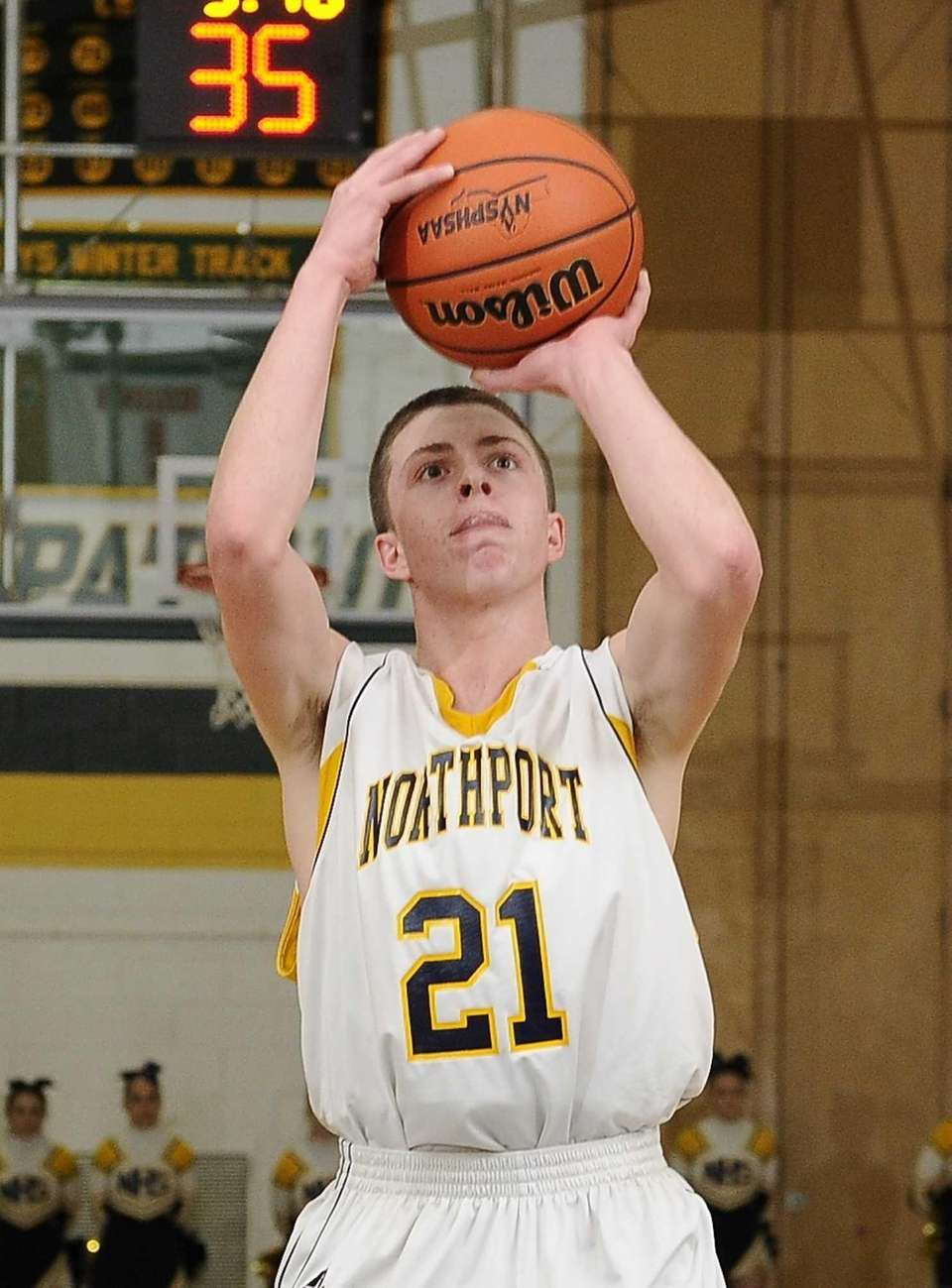 Northport's Austin Marchese shoots from the foul line
