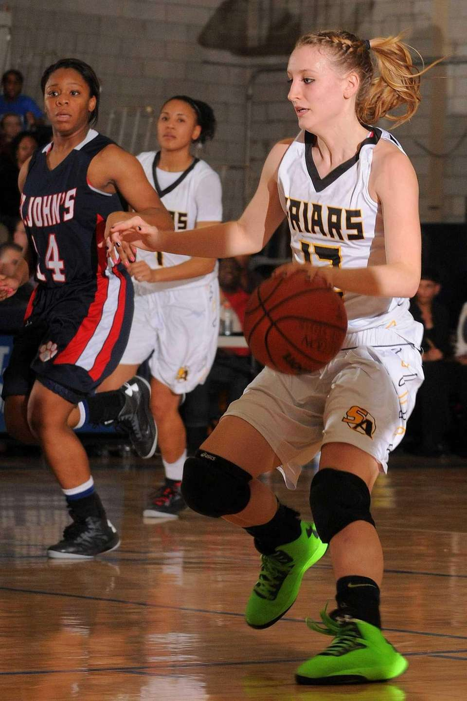 St. Anthony's Rebecca Musgrove looks to drive to