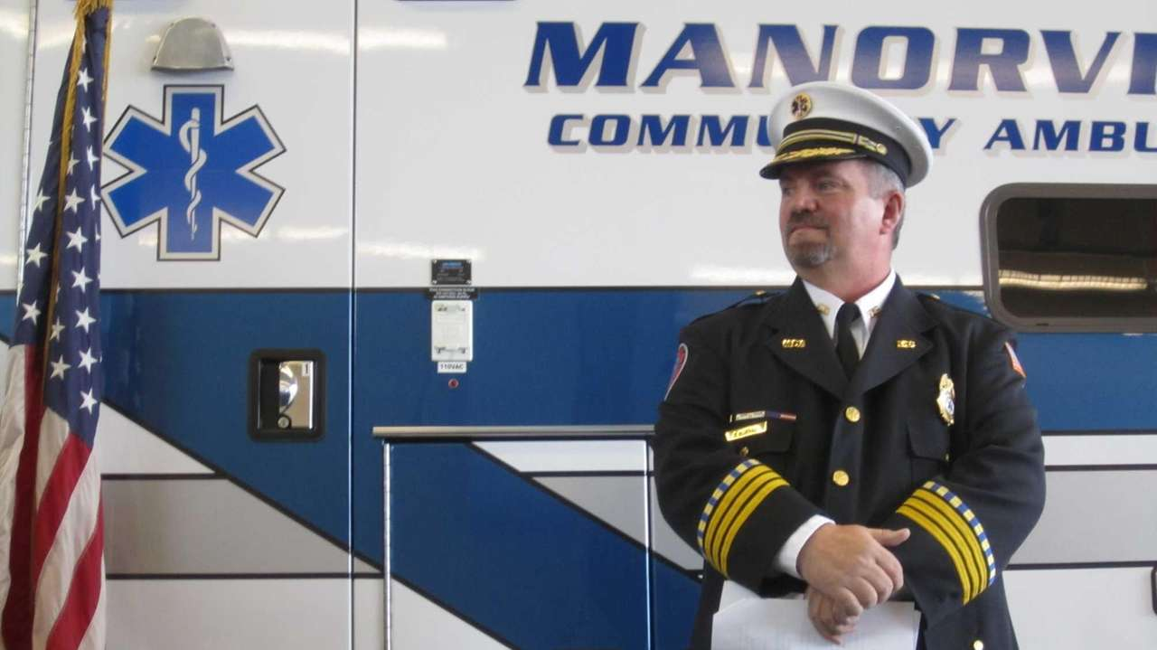 Joseph W. Kukral, chief of the Manorville Community