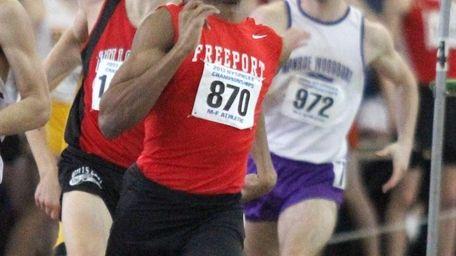 Freeport's Jonathan Greenwood sprints to the finish line