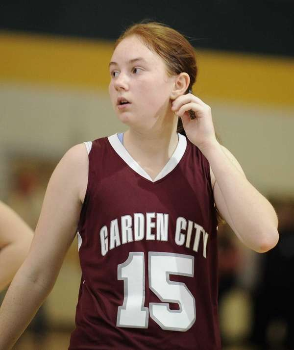 Garden City's Becky Reifler looks on from the