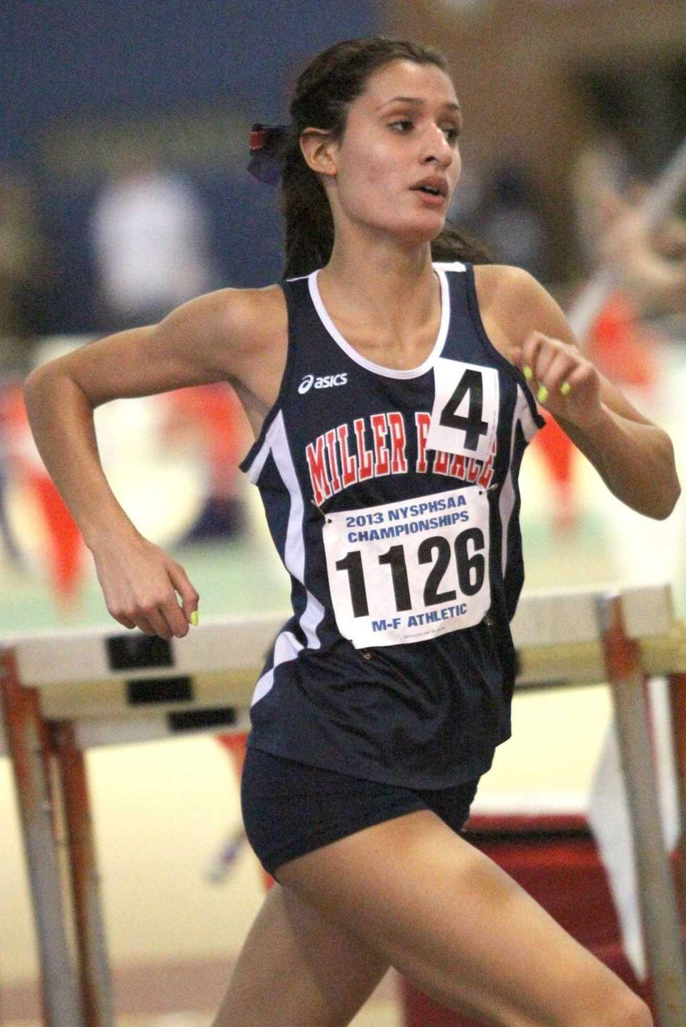 Miller Place's Tiana Guevara competes in the 1500