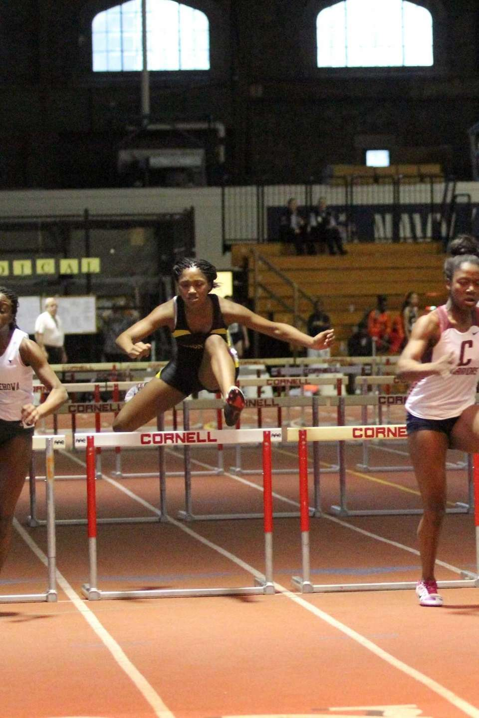 Uniondale's Crystal Green competes during the 55 meter