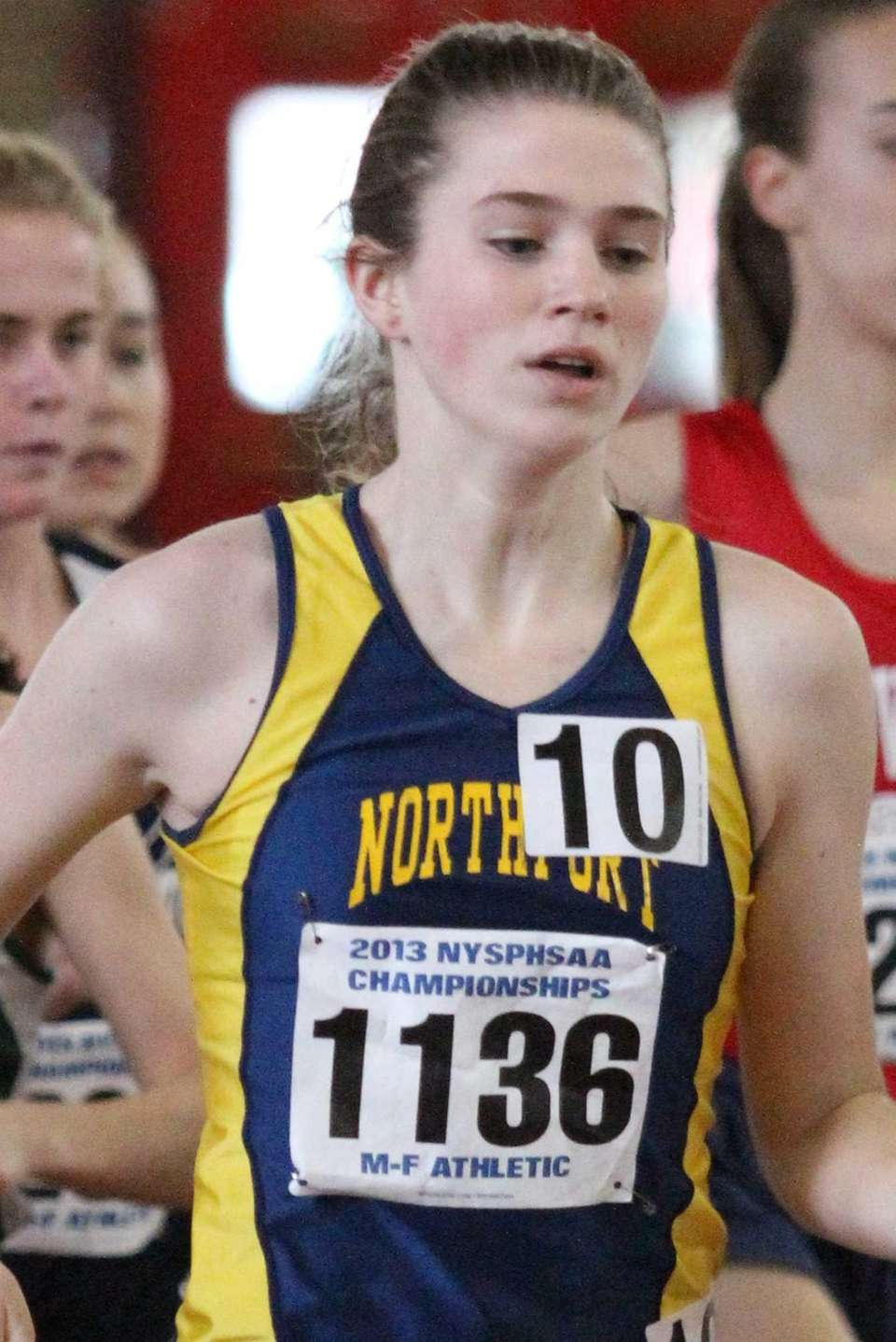 Northport's Brigid Brennan competes in the 3000 meter