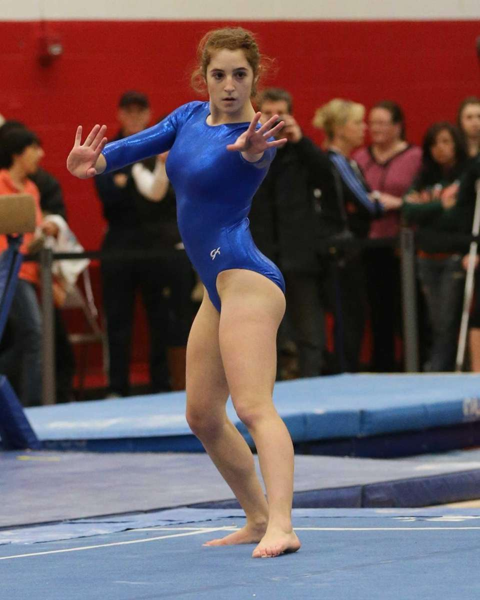 Ward Melville's Eugenia Zhokovsky competes in the Floor