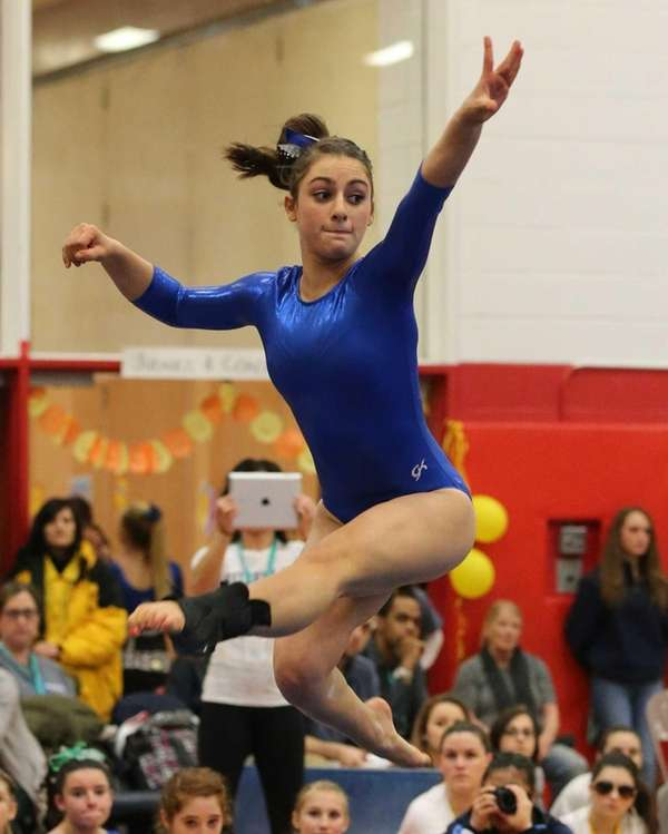 Ward Melville's Alison LaRocca competes in the Floor