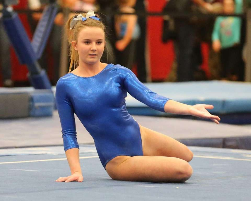 Bay Shore's Olivia O'Connor performs her Floor Exercise