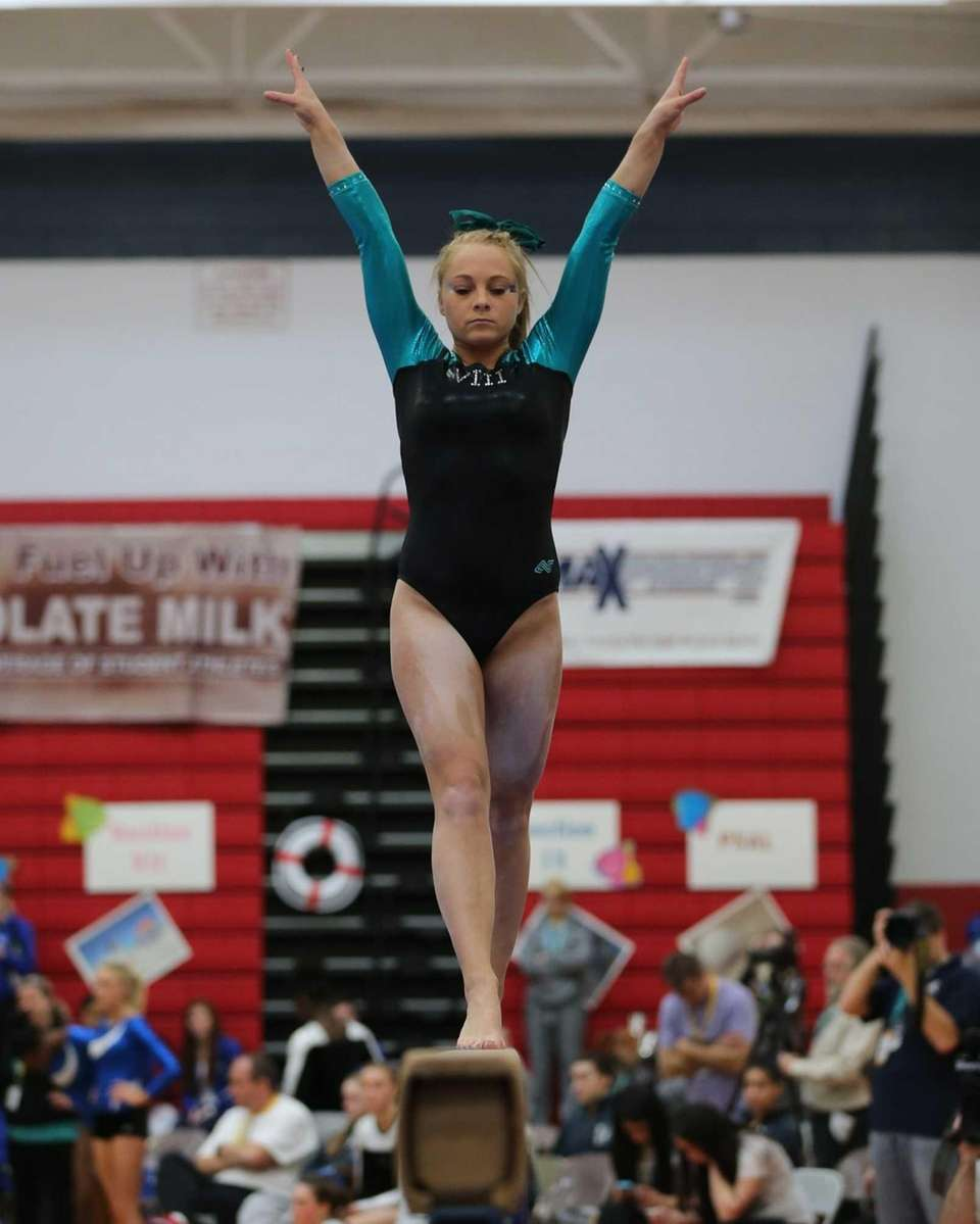 Wantagh Gymnast Brianna Quinn on the Balance Beam.