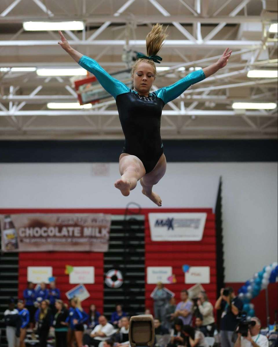Wantagh Gymnast Brianna Quinn performs on the Balance