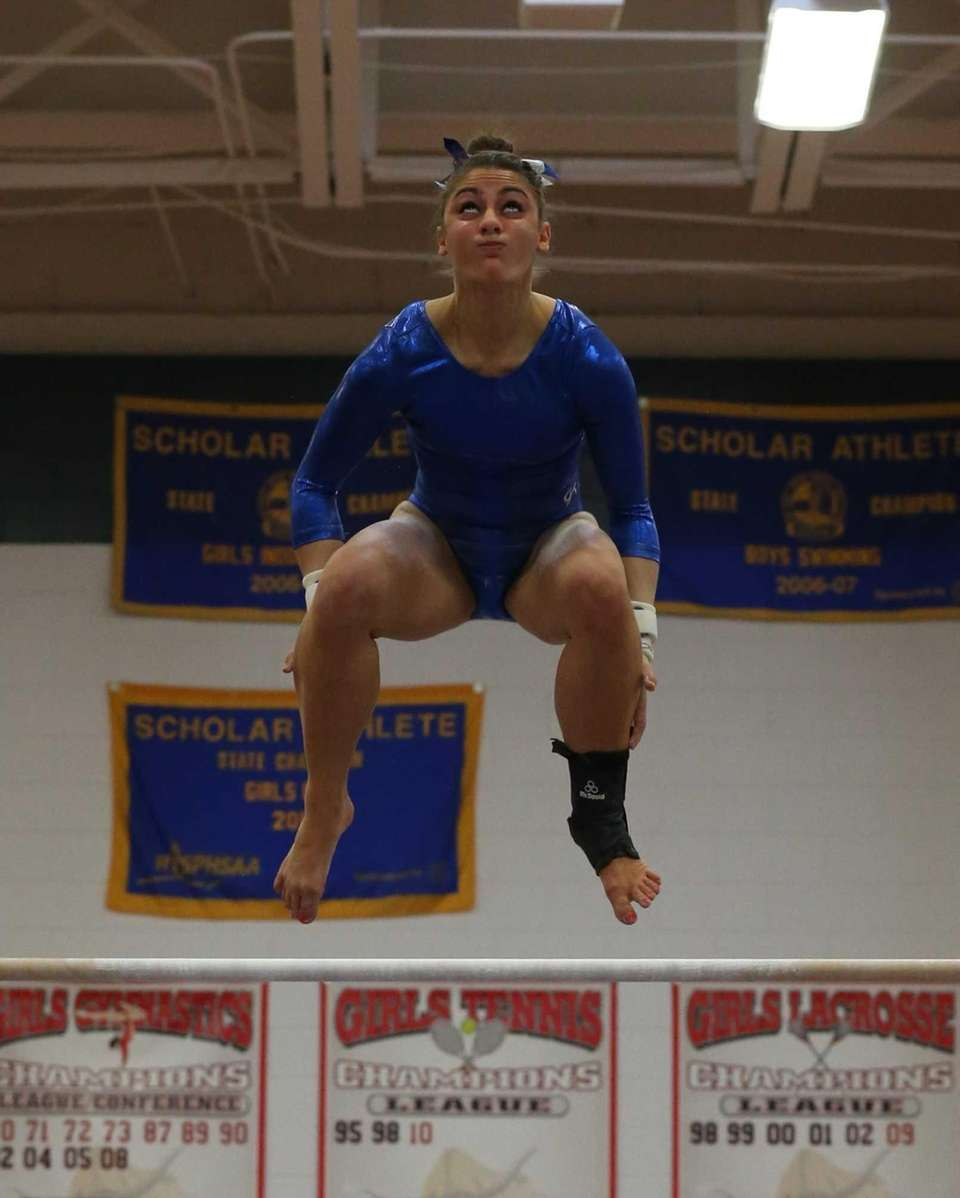 Ward Melville gymnast Alison LaRocca competes in the