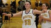 Massapequa's Lauren VanBuren celebrates the win over Uniondale