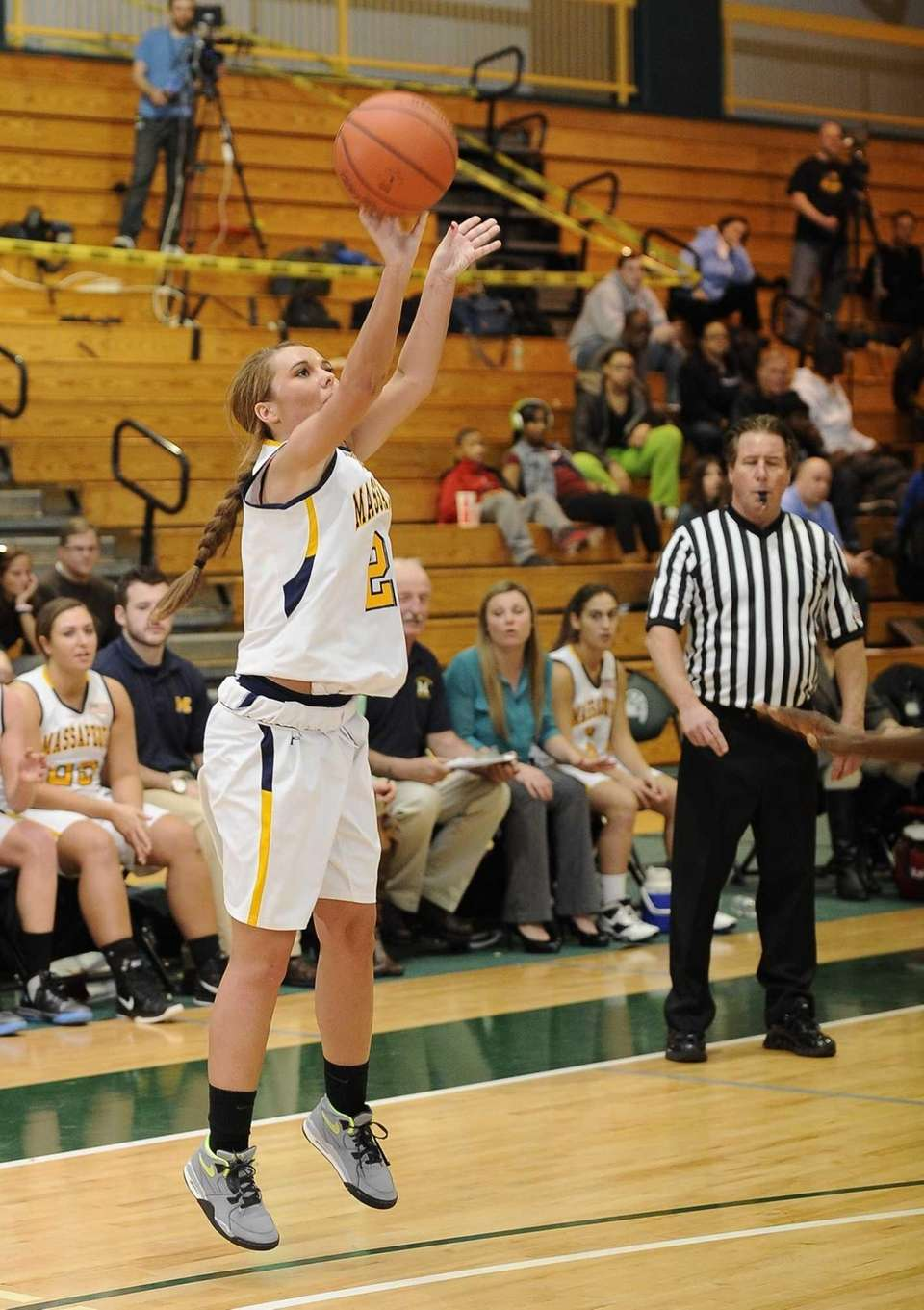 Massapequa's Danielle Doherty shoots against Uniondale in the