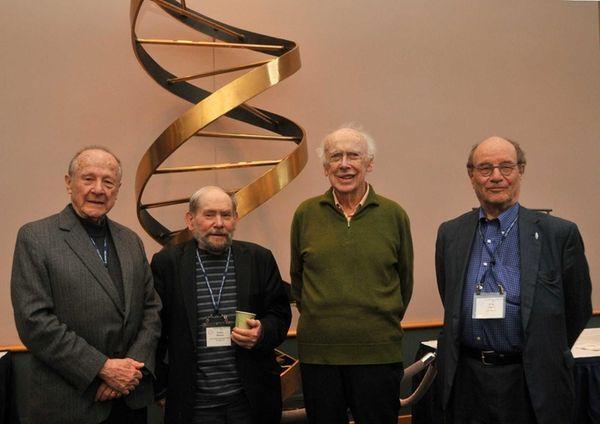 (L-R) Nobel Prize winners Matthew Meselson, Sydney Brenner,