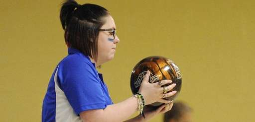 Middle Country's Melissa Sherwin bowls against Longwood in