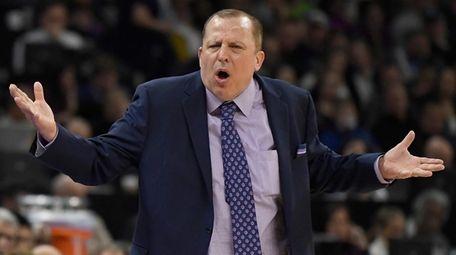 Minnesota Timberwolves head coach Tom Thibodeau against the