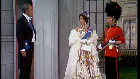 Carol Burnett stars with Harvey Korman, left, and