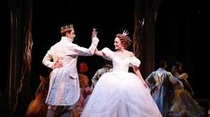 Laura Osnes as Cinderella dancing with Santino Fontana