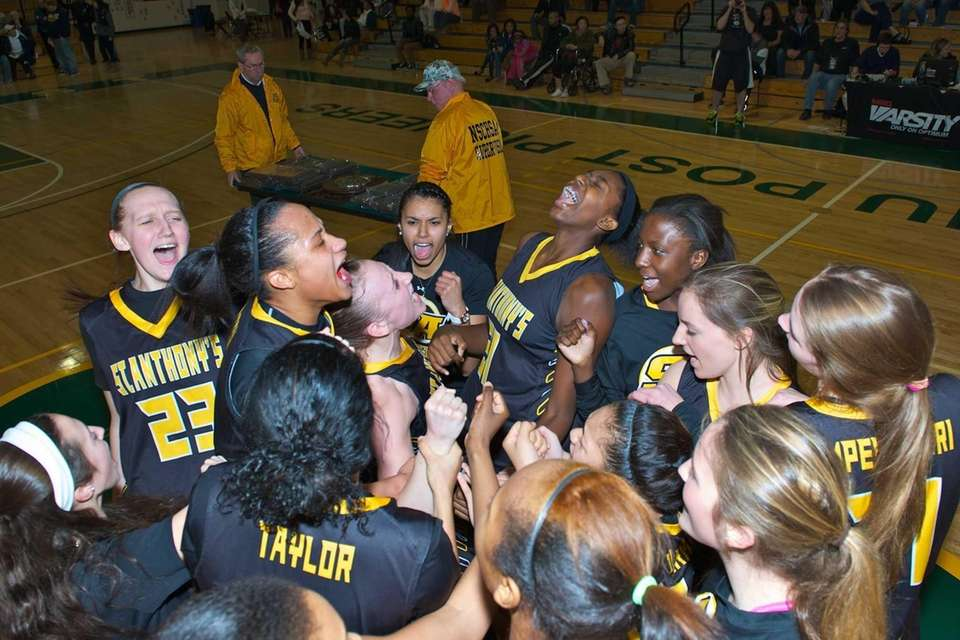 St. Anthony's celebrates winning the CHSAA championship against