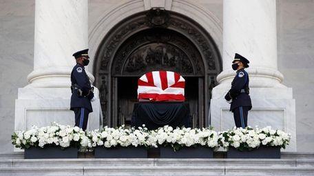 Members of a U.S. Capitol Police honor guard