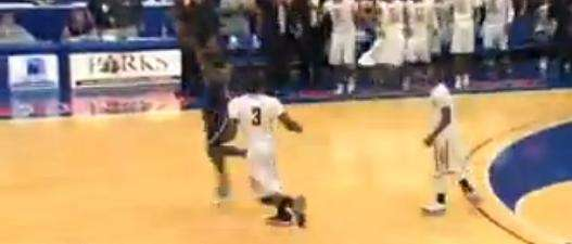 New Rochelle's Khalil Edney hits a buzzer-beater to