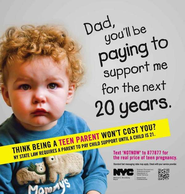 An ad from Mayor Michael Bloomberg's teen pregnancy